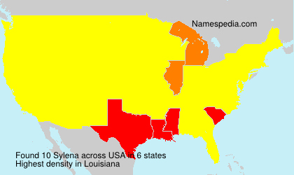 Surname Sylena in USA
