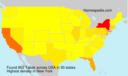 Surname Tabak in USA
