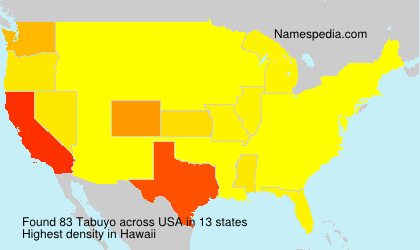 Surname Tabuyo in USA