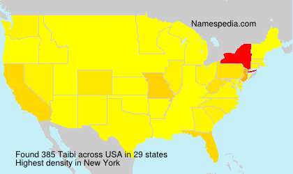 Surname Taibi in USA