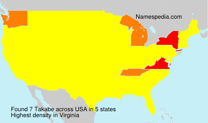 Surname Takabe in USA