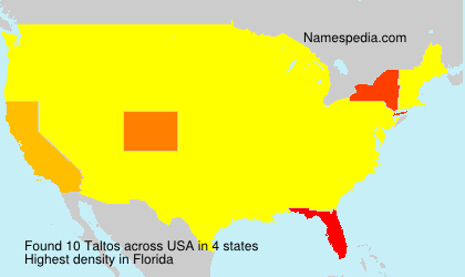 Surname Taltos in USA
