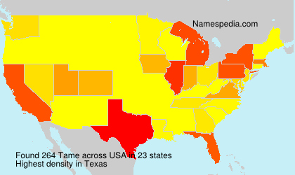 Surname Tame in USA