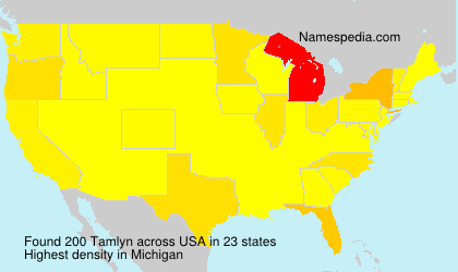 Surname Tamlyn in USA