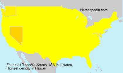 Surname Tanodra in USA