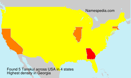 Surname Tanskul in USA