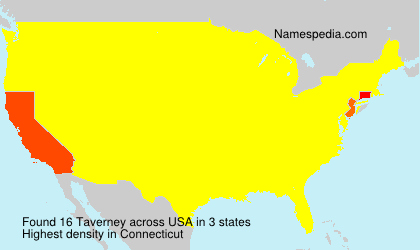 Surname Taverney in USA