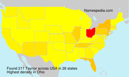 Surname Taynor in USA