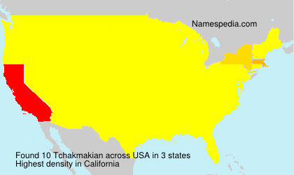 Surname Tchakmakian in USA