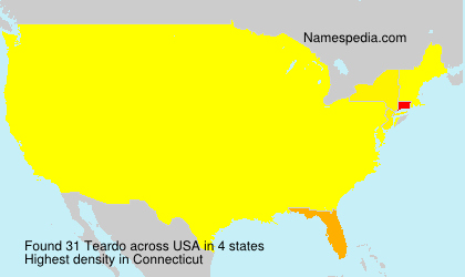 Surname Teardo in USA