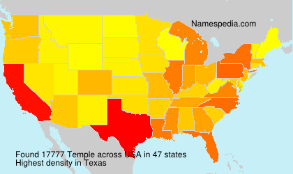 Surname Temple in USA
