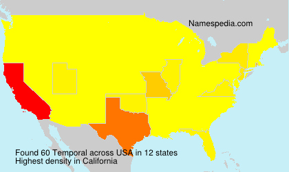 Surname Temporal in USA