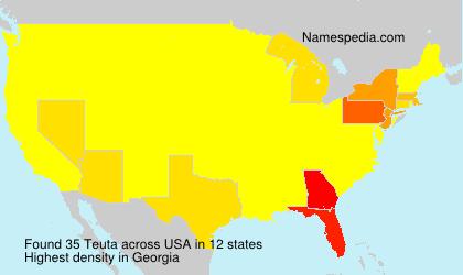 Surname Teuta in USA