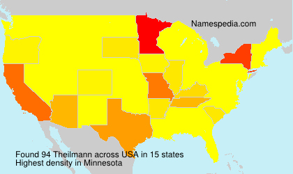 Familiennamen Theilmann - USA