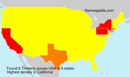 Surname Thielens in USA
