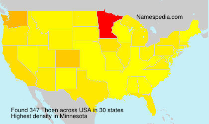 Surname Thoen in USA