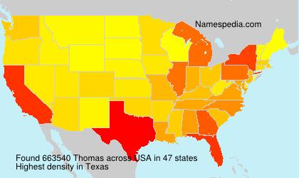 Surname Thomas in USA