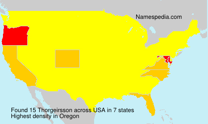 Surname Thorgeirsson in USA
