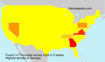 Surname Thorneloe in USA