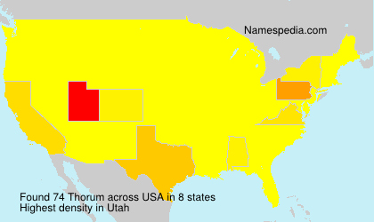 Surname Thorum in USA