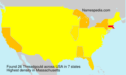 Surname Threadgould in USA