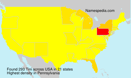 Surname Tini in USA