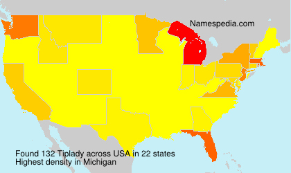Surname Tiplady in USA