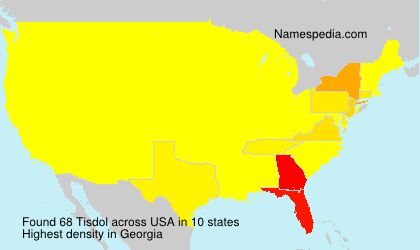 Surname Tisdol in USA