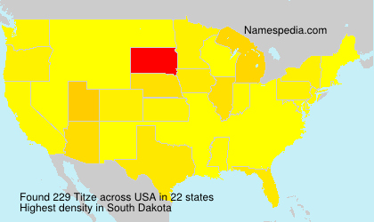 Surname Titze in USA