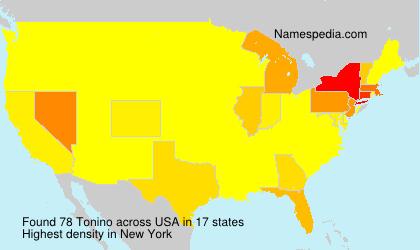 Familiennamen Tonino - USA