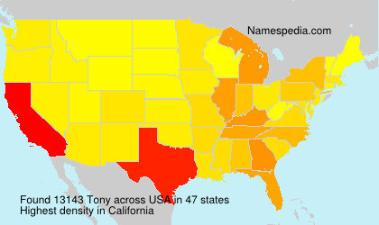 Surname Tony in USA
