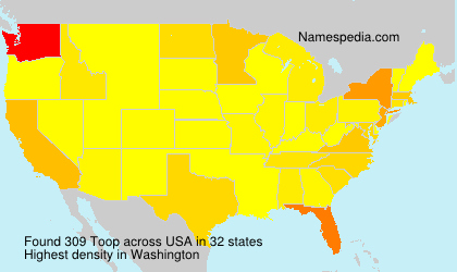 Surname Toop in USA