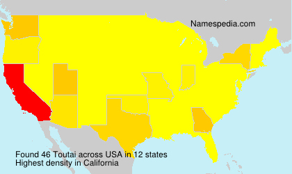 Surname Toutai in USA