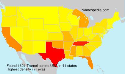 Familiennamen Tramel - USA