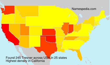 Surname Tresner in USA