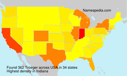 Surname Troeger in USA