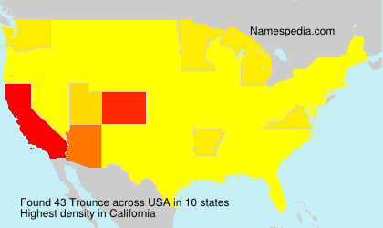 Surname Trounce in USA
