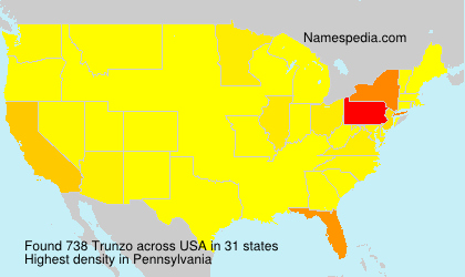 Surname Trunzo in USA