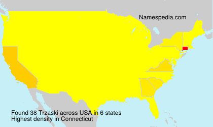 Surname Trzaski in USA