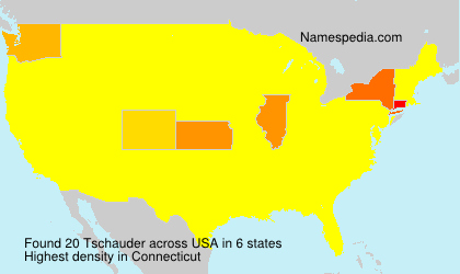 Surname Tschauder in USA
