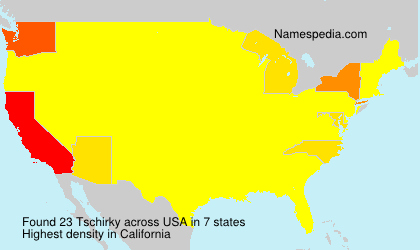 Surname Tschirky in USA