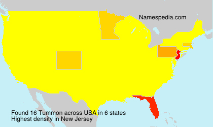 Surname Tummon in USA