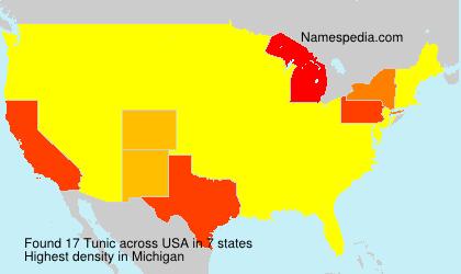 Familiennamen Tunic - USA