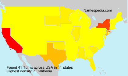 Surname Turna in USA