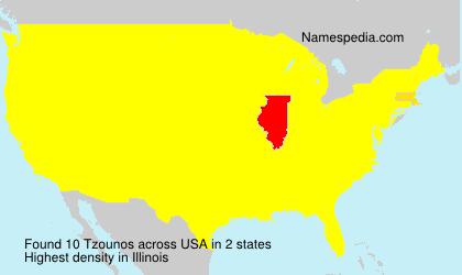 Surname Tzounos in USA