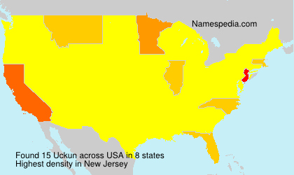 Surname Uckun in USA