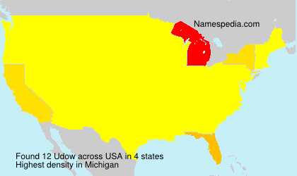 Surname Udow in USA