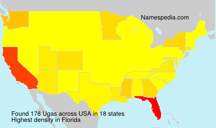 Surname Ugas in USA