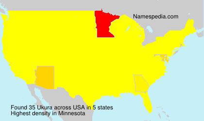 Surname Ukura in USA