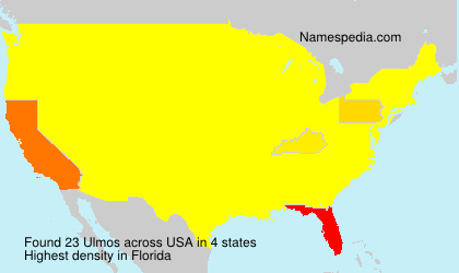 Surname Ulmos in USA